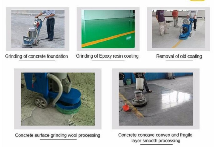Durable surface polishing vacuum motor floor grinding machine