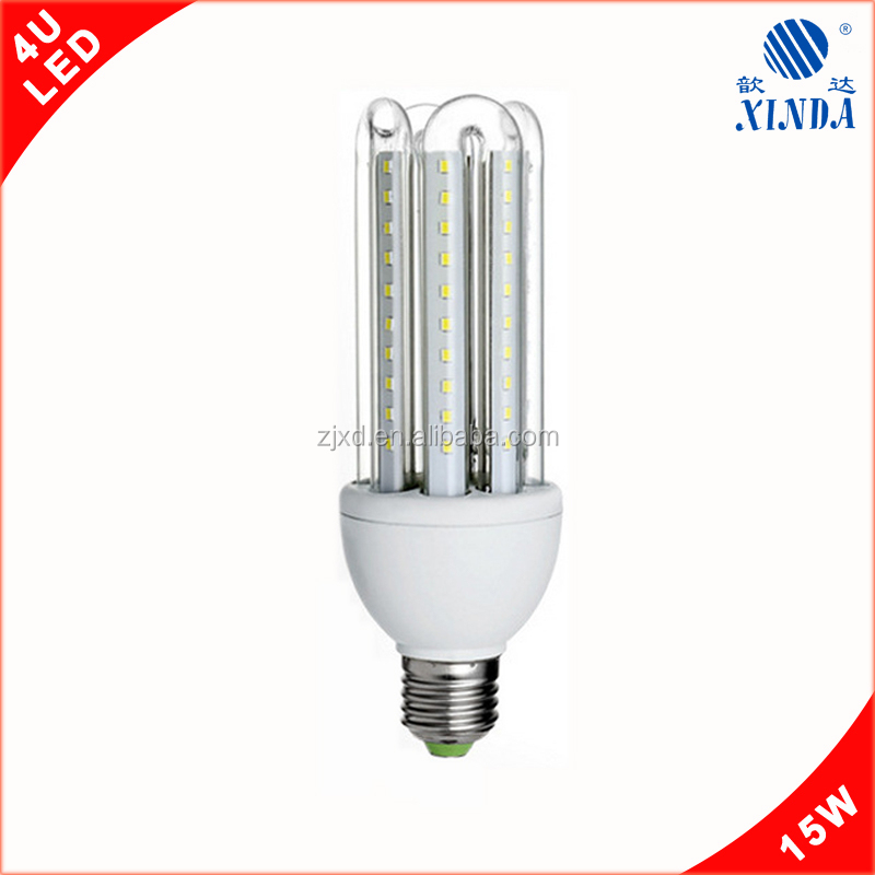 2016 New product SMD2835 4U 15W LED bulb <strong>E27</strong> energy saving lamp