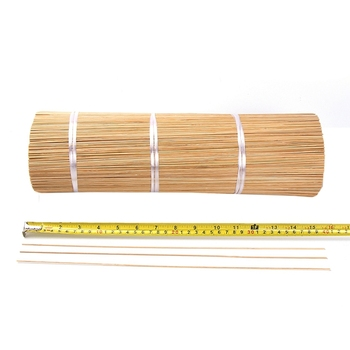 "Varas de bambu natural cru do pau do incenso para agarbatties 9 ""10"" 11 ""12"""