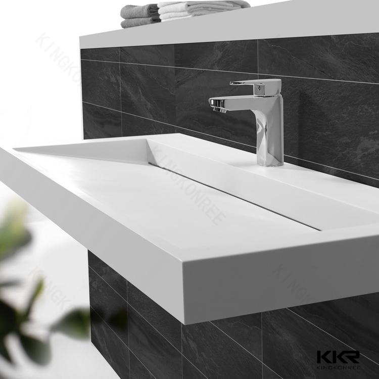 Sint tico piedra de m rmol lavabo taz n forma fregadero for Revestimiento sintetico para banos