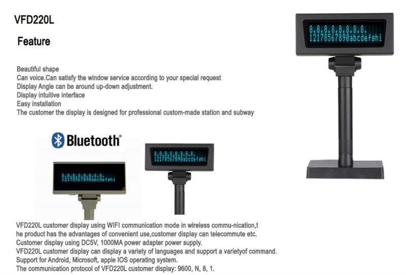 Oem Supplied Vfd Pos Display/price Display Pos/pos Lcd Customer ...