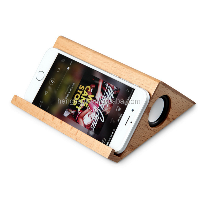 Solid Wood Smart Subwoofer Mini Audio Wooden Bluetooth Speaker