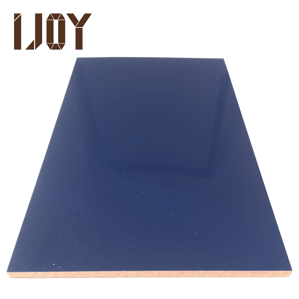 high gloss shiny blue laminate sheet hard mdf board