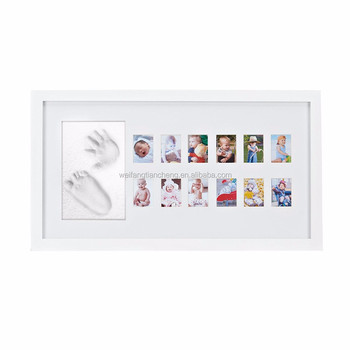 Eco Frindly Baby First Year Photo Frame White With Quality Mat Multi