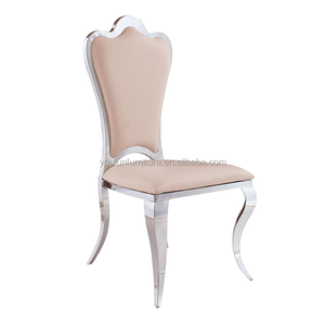 Bonded Leather Stainless Steel Restaurant Chair