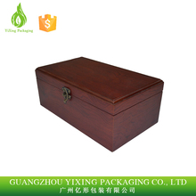 Customized luxury wooden gift wine packaging box