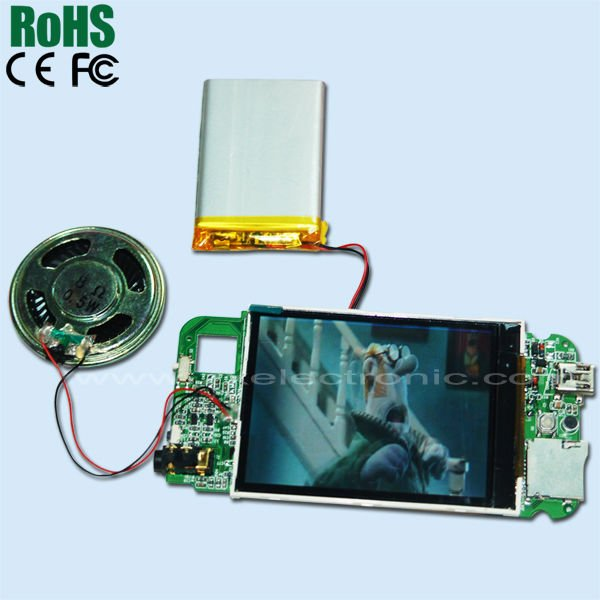 2013 high quality clear and clen LCD video greeting card module