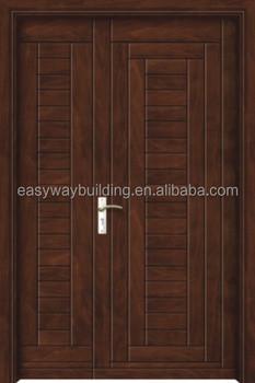 Half Door Designs one and half door design solid wood apartment door One And A Half Door Main Gate Designs In Wood