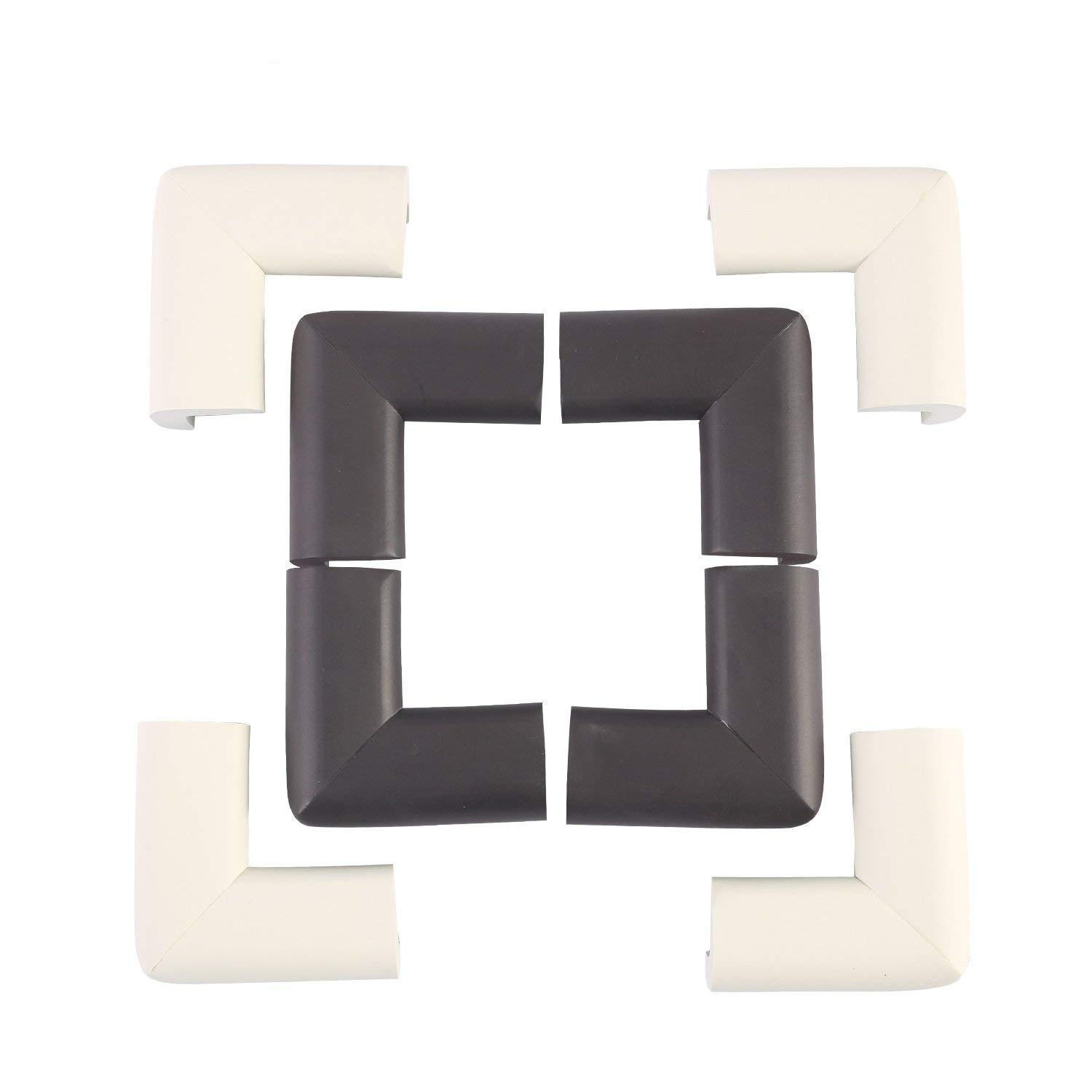 4pcs Child Safety Corner Protector Soft Pvc Desk Table Guard Edge Protection Cover Safe Cushion Furniture