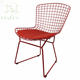 Laboratory perforated modern metal dining chair