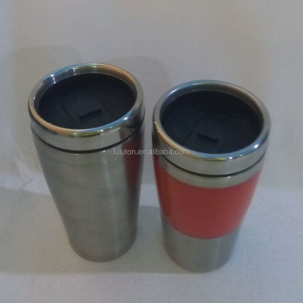 promotional Promotional red Stainless steel Travel mug, Desk mugs, Auto mug