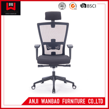 Black Ergonomic Mesh Office Chair With Headrest