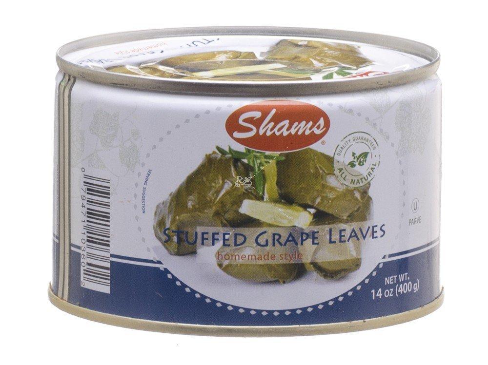 Shams Stuffed Grape Leaves Home Style 14 Oz. Pack Of 12.