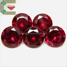 Special cutting round red corundum synthetic precious stones for jewelry