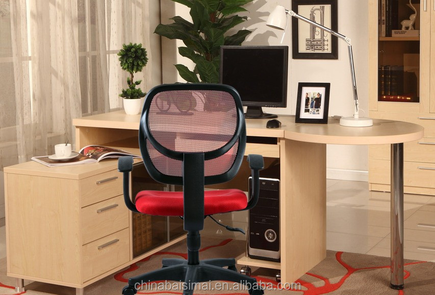 S02# General use staff different colored typist mesh computer chair with nylon base