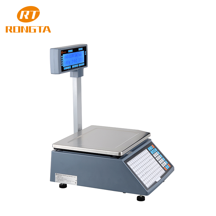 weighing & pricing sticker printing computing digitaal scale for retail store