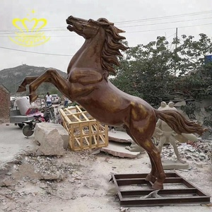 Outdoor garden home Decor Realistic Fiberglass Life Size Horse Statue For Sale
