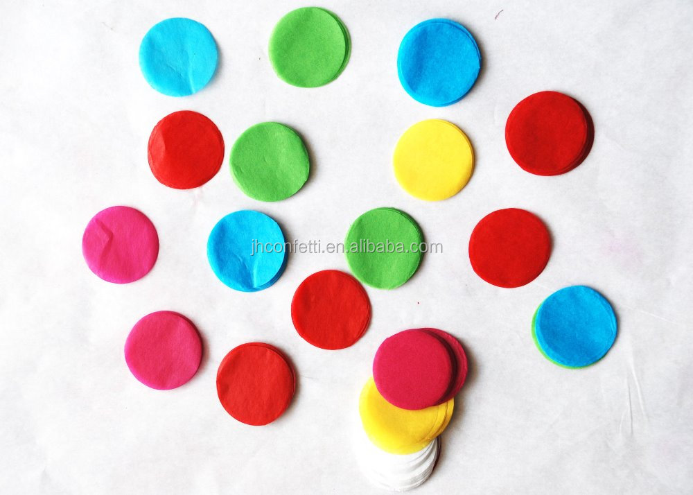 wedding and festival paper round color mix party confetti