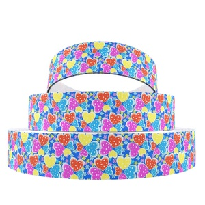 "1""25mm Custom Unicorn Printed Gift Wrap Satin Grosgrain Ribbon 5454"