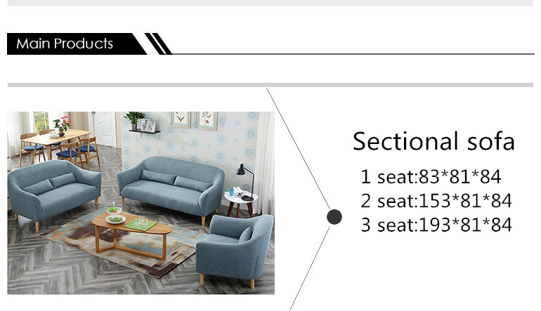 Fabric sectional sofa, office upholstered sofa modern style sectional sofa from china sofa factory