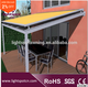 Modern house design hot sell retractable glass roof awnings