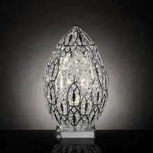 New Modern Christmas Egg Shade Project Crystal Table Lamp , Wrought Iron G9 LED Hotel Fixture Table Lighting from China Supply