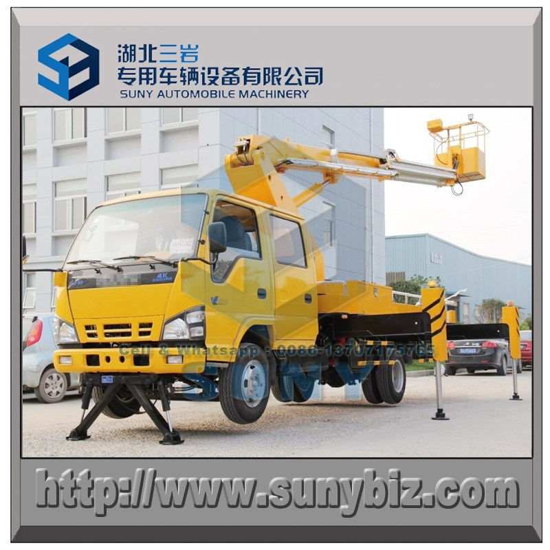 16 meters Qinglin 600P straight arm high work insulatioin basket truck, opting double row cabin or single row cabin