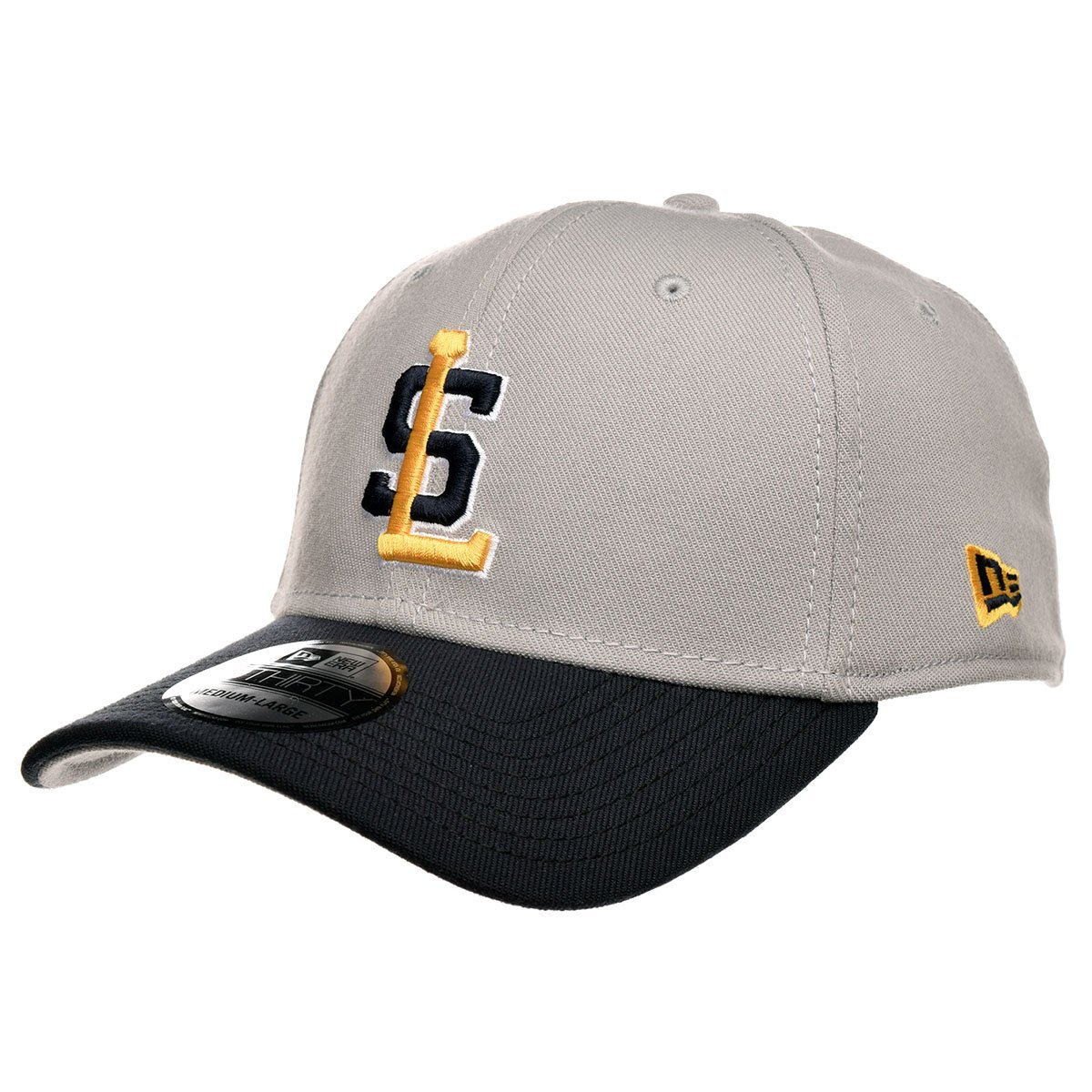4139227669ef5 Get Quotations · Salt Lake Bees New Era Gray Navy Throwback 39Thirty  Stretch Fit Hat (Gray)