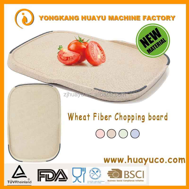 High quality Eco-friendly Wheat Fiber anti-slip cutting board/kitchen containers LFGB & FDA