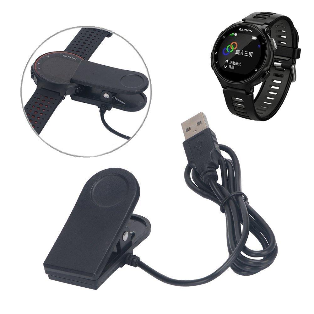 for Garmin Forerunner 230 235 630 735XT Charger Clip , EXMART USB Data Sync Charging Cable Charger Dock for Garmin Forerunner 230 235 630 735XT