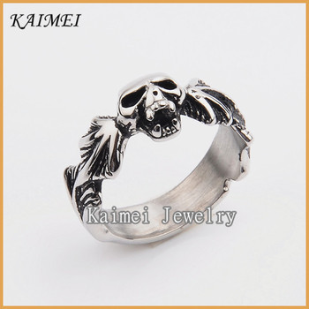 china supplier stainless steel jewelry wholesale high polish biker wedding rings - Biker Wedding Rings