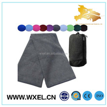 Good quality sport customized logo microfibre golf cool towel with bag