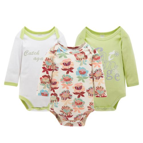1527171f1 Christmas Costume 3pcs/lot Baby Newborn Baby Jumpsuit Long Sleeve Cotton  Winter Romper Baby Girl