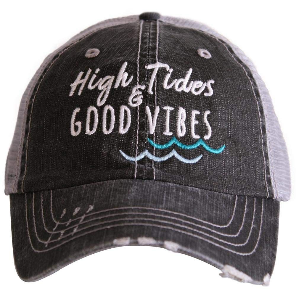 3e94b59368ebe Get Quotations · High Tides   Good Vibes Women s Trucker Hats Caps