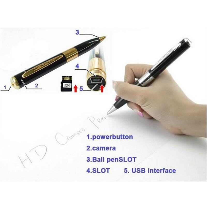 Silver HD Pen Camera Spy Pen Video Audio Recorder Camera