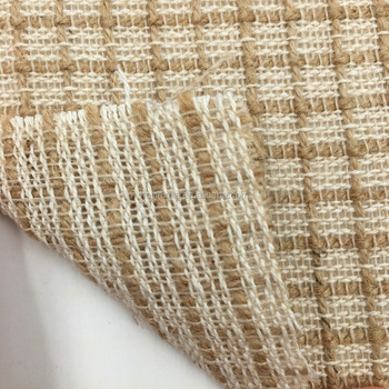 Fashion Gold Print Plaid Stripe Cotton Jute Fabric For Shoe Bag Carpet -  Buy Jute Cotton Blend Fabric,Cotton Jute Fabric For Shoe Bag Carpet,Carpet
