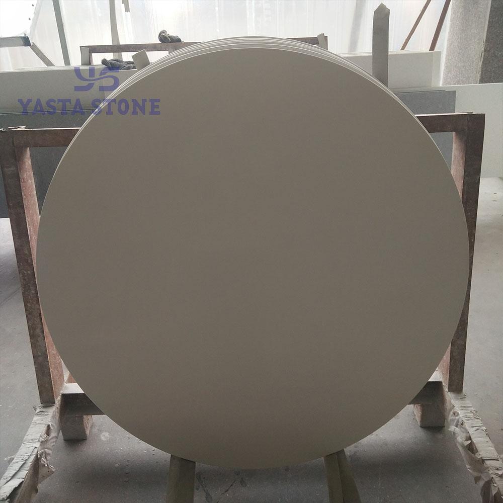 Wholesale Round Pure White Engineered Quartz Table Tops