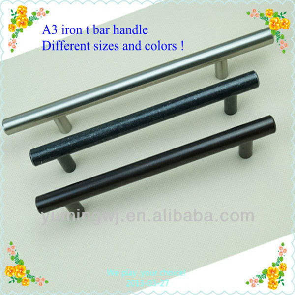 Different sizes and colors T bar shape furniture handle/Carbon steel t bar cabinet handle or China supply handle and pull