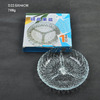Beautiful embossed glass fruit plate with segregation glass 768g