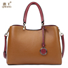 QIWANG Loved Vogue Genuine Leather Women Bag Brown Design Famous Brand Quality Leather Handbags Fashion Female Tote Bag