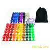 18 Different Colors Assorted Colored Polyhedral RPG Dices Set 126pcs