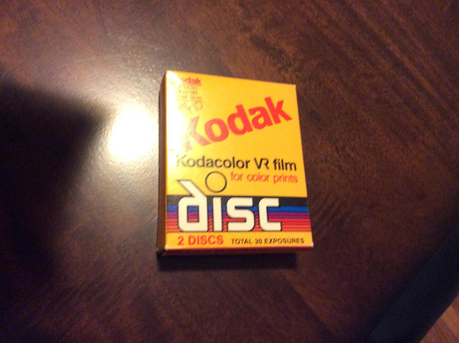 Eastman Kodak Company Kodak Kodacolor VR Film for Color Prints Kodak Disc Film 2 Disc Total 30 Exposures CAT 155 4633 Model# Kodak CVR Disc-15-2 Blister Package (2 Discs, 30 Exposures)