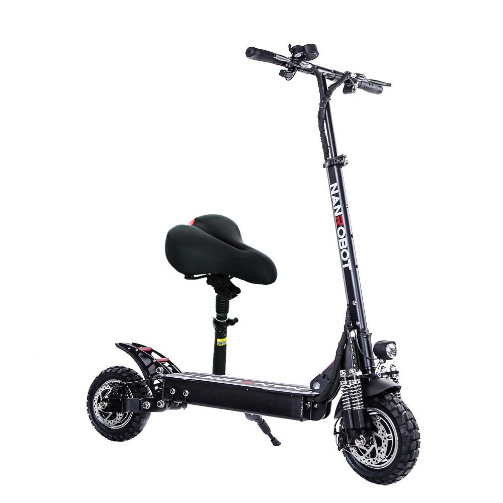 Alibaba.com / NANROBOT D4+ upgrade 52v2000w 60km Distance Portable Folding Electric Scooter