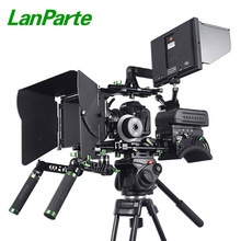 Lanparte universal shoulder support DSLR camera complete rig with monitor, matebox, follow focus