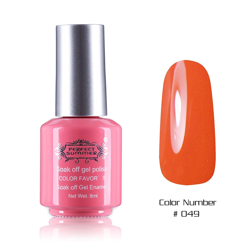 Perfect Summer Nails Painting Art Salon Decoration Gift 8ml Gel Nails Polish UV Led Light Soak Off Creative French Manicure Teens Nails Lacquers Varnish #49 dark orange