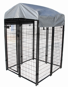 Beautiful Welded Wire Mesh Dog Kennel / Cage with Waterproof Roof