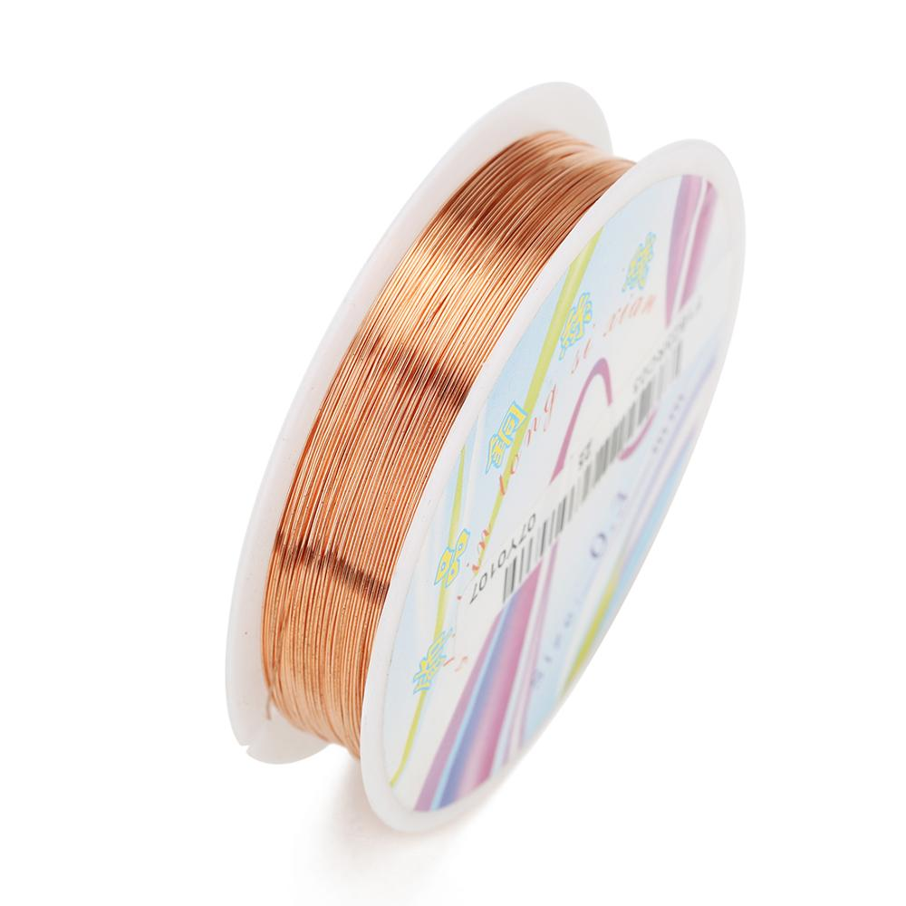 Rose Gold Pandahall 26.3 Feet Tarnish Resistant Copper Wire 20 Gauge Jewelry Beading Craft Wire for Jewelry Making