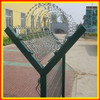 2014 hot sale PVC coated triangular bending airport wire mesh for high security fence/3D airport fence