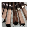 Hygiene Grades 304 316L Seamless Stainless Steel Square Pipe