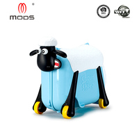 Shaun the sheep ABS PP children ride on luggage